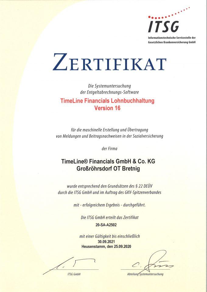 ITSG Zertifikat 2020